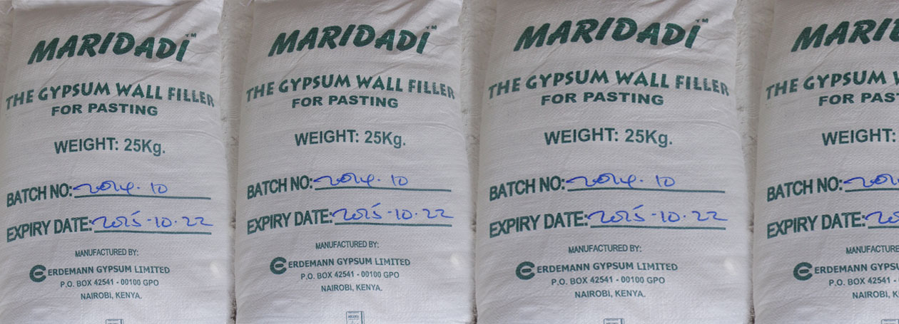 Gypsum Filler 25kg Maridadi