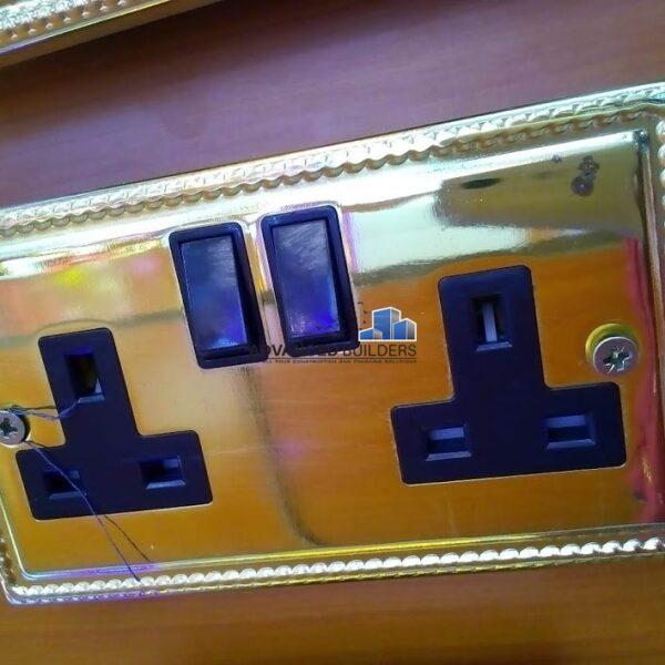 Brass Twin Socket
