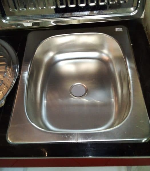 Granite kitchen sink single bowl