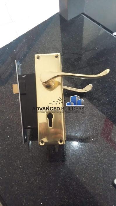 Union 2 Lever Brass Handle Lock