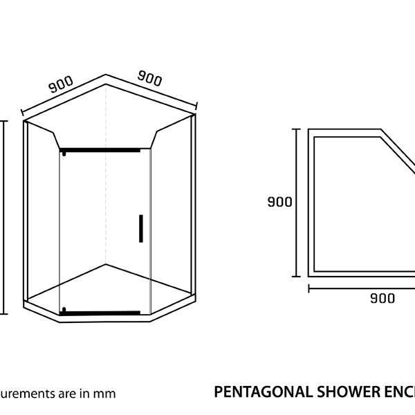 Shower Enclosure Pentagon