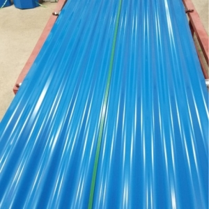 Corrugated Coloured Iron Sheet 3 Meters Blue