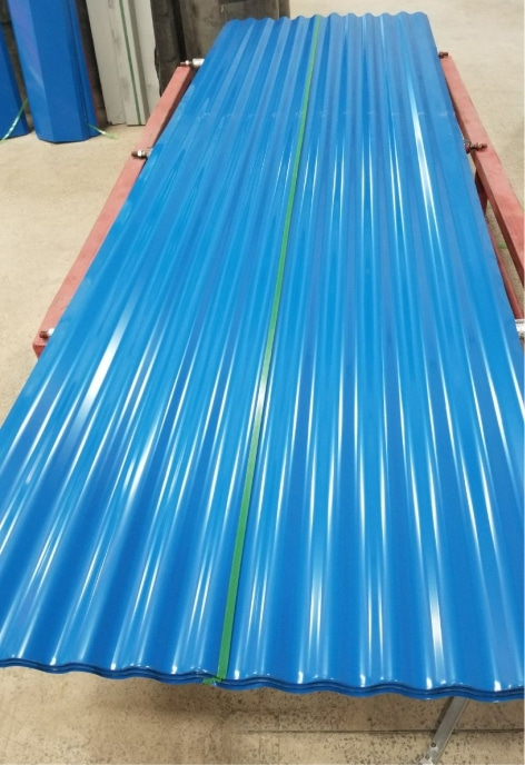 Corrugated Coloured Iron Sheet 2 Meters Blue