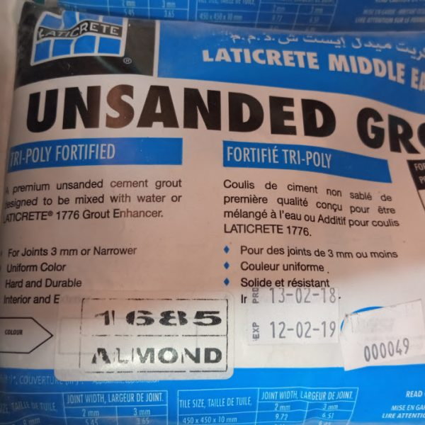 Unsanded Grout Almond