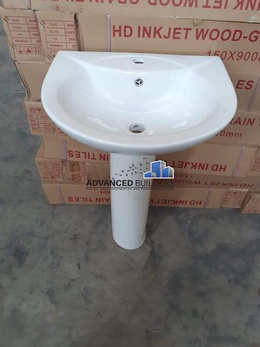Pedestal Wash Hand basin White