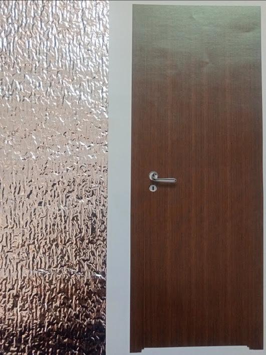 Smooth Walnut Door Set