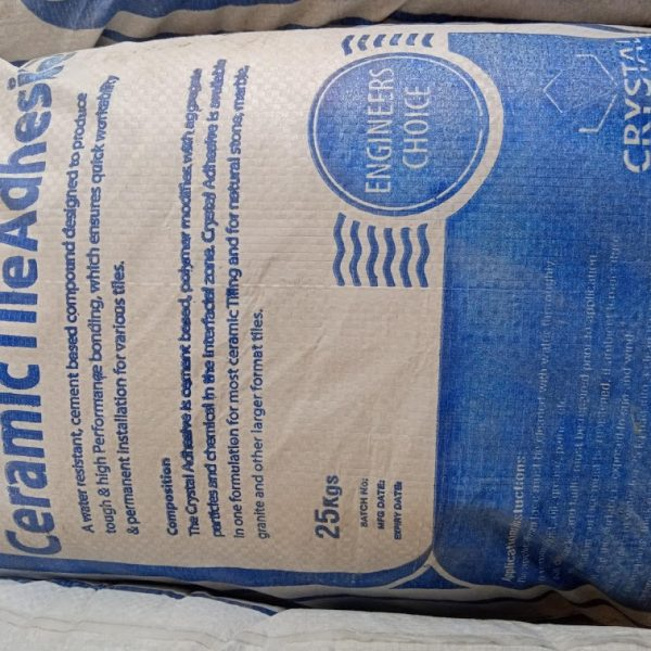 Crystal Tile Adhesive Cement 25Kg